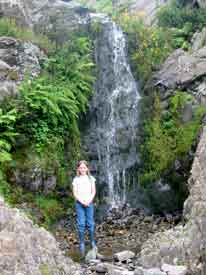Katherine by Cardingmill Valley waterfall